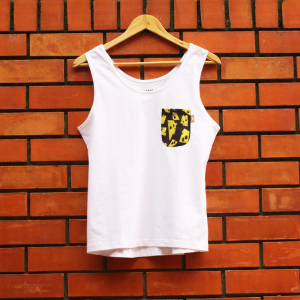 T-shirt c/ alças Queijo