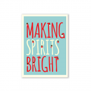 Making Spirits Bright Postcard