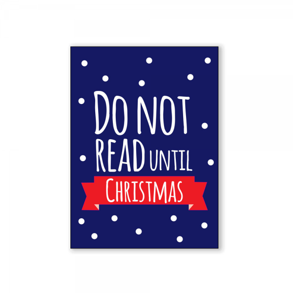 Do not read until christmas Postcard