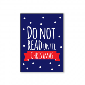 Do not read until christmas