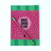 Kit Caderno + Lápis Melancia